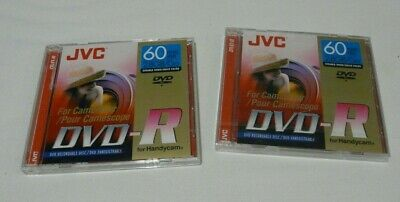 £12.35 • Buy Lot Of 2 JVC DVD-R For Handycam  Camcorder 60 Min 2.8 Gb Each 1 New / 1 Open