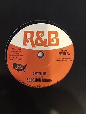 £9.99 • Buy Solomon Burke - Cry To Me / Mel Torme - Comin Home Baby