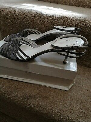 £10.99 • Buy Ash & Roses Sandal Heels Shoes Size 9 Silver, Made In Spain