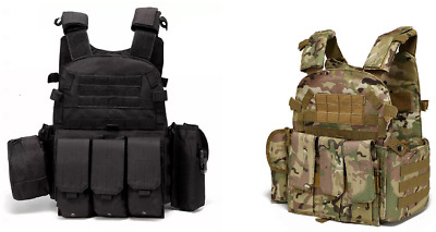 $34.95 • Buy New Tactical Vest SWAT Military Assault Style Hunting Combat Airsoft 600D Oxford
