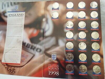 £15 • Buy Official England Squad World Cup Medal Coins Collection 1998 Sainsburys Complete