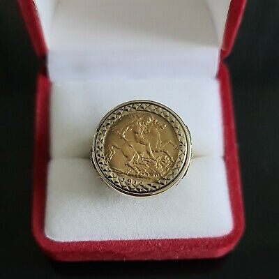 £449.99 • Buy Half Sovereign Ring Triple St. George Size O,  9.64gr.