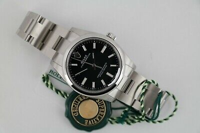 $ CDN8811.89 • Buy Rolex Oyster Perpetual 34 124200 Black Dial Oyster Band Box & Papers Year 2021