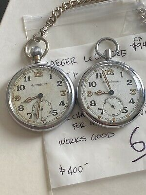 $599.99 • Buy Rare Jaeger Lecoultre - Wwii British Forces Gstp Military Pocket Watch 17j !!