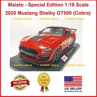 $43.89 • Buy Maisto 2020 Mustang Shelby GT500 Cobra Ford Red 1/18 DieCast Model Car 31452 New