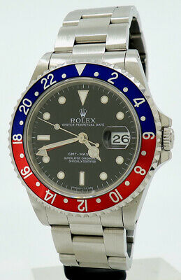 AU19300 • Buy Rolex Ref 16700 Steel Automatic 40mm Oyster Perpetual PEPSI GMT-Master From 1996