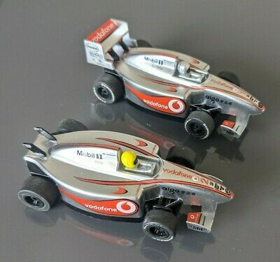 £24.99 • Buy Scalextric - Pack Of 2 Silver Micro Racing Slot Cars Vodafone Mobil Mercedes F1