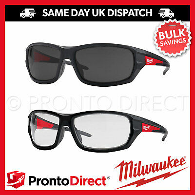 £18.99 • Buy Milwaukee Safety Glasses Performance Specs Spectacles Clear Tinted Anti-Scratch