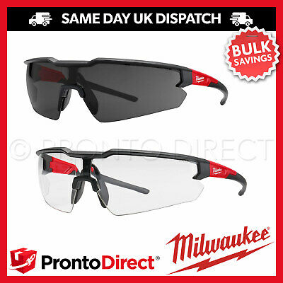 £14.39 • Buy Milwaukee Safety Glasses Enhanced Specs Spectacles Clear Tinted Anti-Scratch
