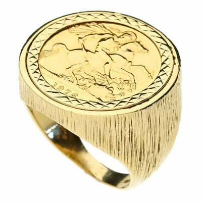 £745 • Buy Full Sovereign Yellow Gold Coin Ring - Size U