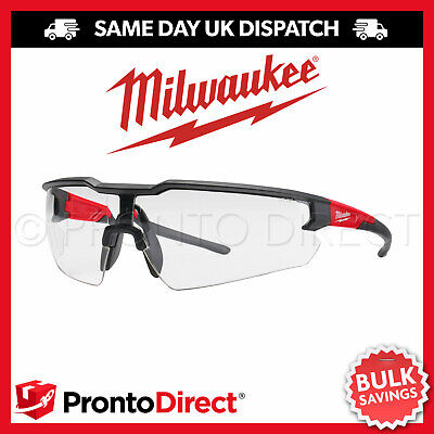 £12.99 • Buy Milwaukee Safety Glasses Enhanced Specs Spectacles Clear Tinted Comfortable