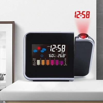 £8.59 • Buy Digital LCD LED Projector Projection Weather Station Calendar Snooze Alarm Clock