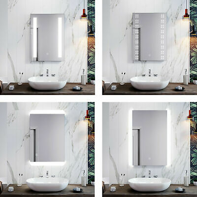 £73.99 • Buy LED Illuminated Bathroom Mirror Cabinet Touch / Button Switch Wall Hanging  IP44