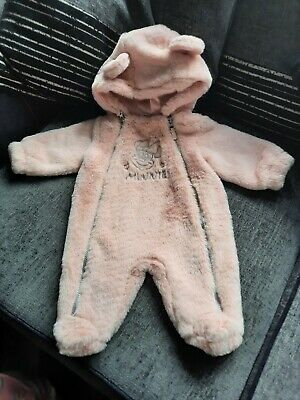 £4 • Buy Disney 3-6  Months All In One Soft Winter Suit