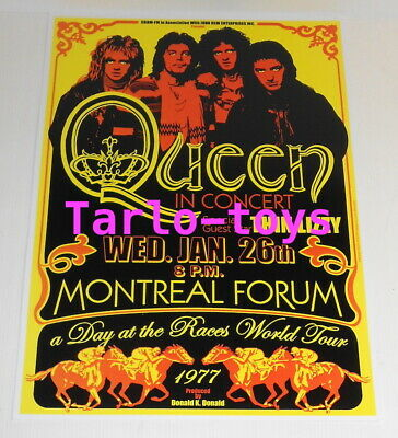 $19.99 • Buy QUEEN + THIN LIZZY - Montreal, Canada - 26 January 1977 - Concert Poster