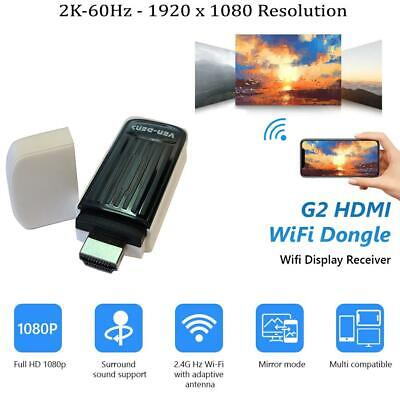 £14.99 • Buy WiFi Dongle Wireless Display Adapter 1080P Receiver To TV Projector Airplay DLNA