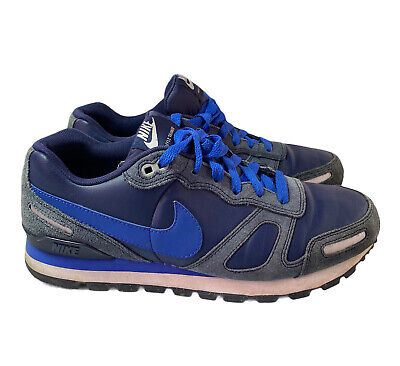£22.50 • Buy Nike Air Waffle Leather Suede Trainers Navy Blue 454395-442 Size UK 8 EUR 42.5