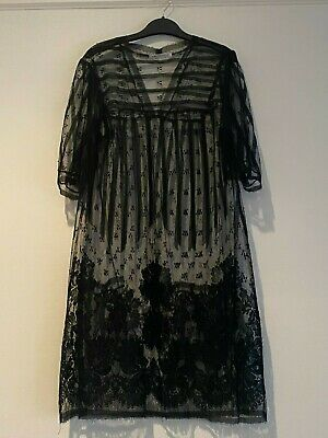 AU150 • Buy Scanlan And Theodore Gorgeous Lace Shift Dress With Front Pockets In Size S