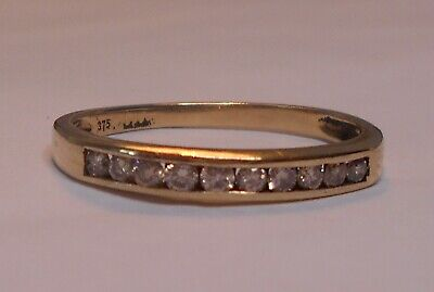 AU250 • Buy Channel Set Diamond 9ct Yellow Gold Ring With Valuation $725
