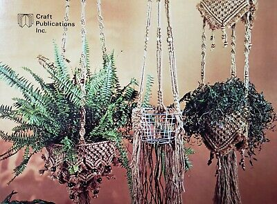 $6.50 • Buy Vintage Wired For Macrame Pattern Book Basket Plant Hangers Wall Hanging NOS '77