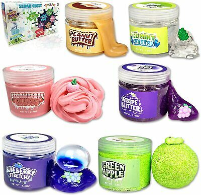 AU40.51 • Buy Slime Kit For Girls Boys, 6 Different Scented & Premade Slimes In 28 Oz Containe