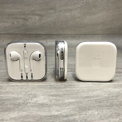 $ CDN12.97 • Buy Genuine Apple EarPods Headphones 3.5mm Jack With Remote And Mic - For IPhone