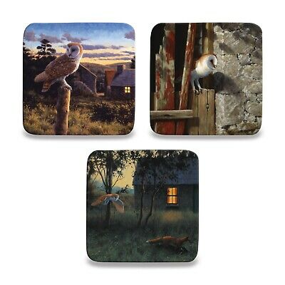 £3.50 • Buy Owl Coaster By Julian Friers Drink Mat Coffee Tea Square Gift For Owl Lover