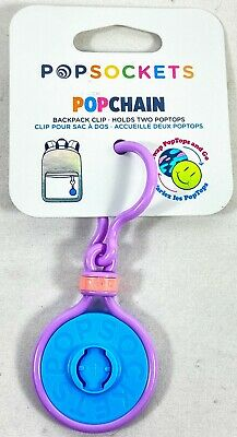 AU8.11 • Buy PopSockets Storage PopChain Dual-Sided PopTop Base & Clip - Blue And Purple NEW