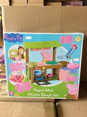 £18.99 • Buy Peppa Pig Peppa's Mud Kitchen Dough Set With Moulds And Accessories New Sealed
