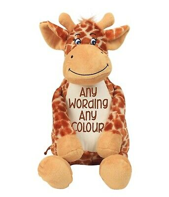 £22 • Buy Mumbles Zippie Giraffe Personalised & Embroidered Soft Cuddly Toy Teddy Bear