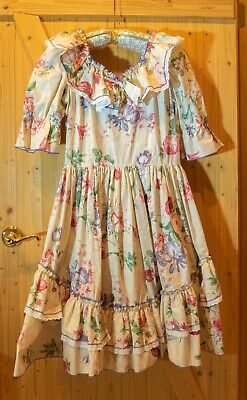 $40 • Buy CALL IT FANCY Vintage Square Dance Dress, Floral, Ruffles, Full Circle Skirt