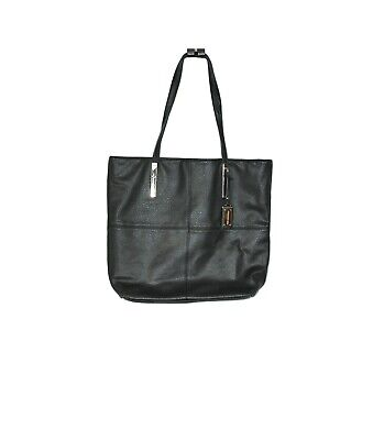 AU39 • Buy Forever New Solid Black Faux Leather Two Handle Tote Shoulder Bag