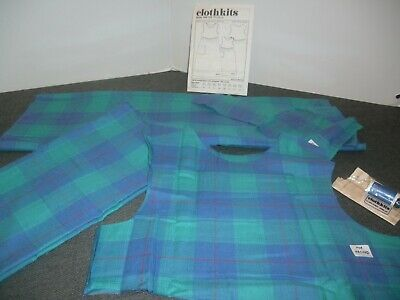 £9.95 • Buy Vintage ClothKits -Child's Check Pinafore Dress  Style 153 - Size 8-9 Years -New