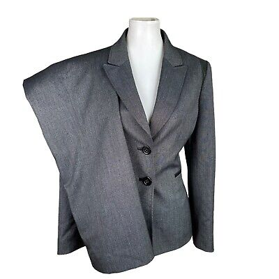 £25.32 • Buy TAHARI Women 2PC Gray Black Polyester Blend Single Breasted Pant Suit Size 8P