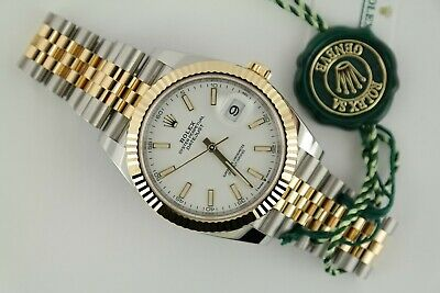 $ CDN18253.26 • Buy Rolex Datejust 41 126333 White Index Dial Jubilee Band Box & Papers Year 2021