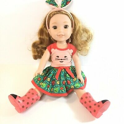 £25.60 • Buy American Girl Wellie Wishers 14.5 Inches The Willa Doll Ladybug With Outfit