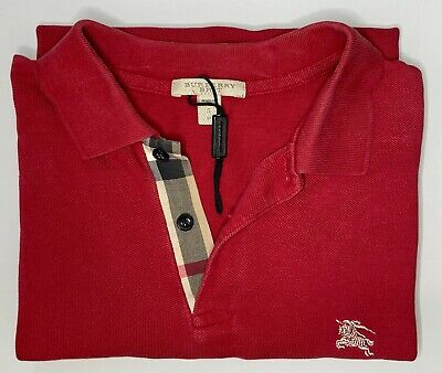 $39.99 • Buy Burberry Brit Men's Collared Polo Shirt Red Size S
