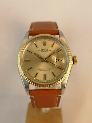 $ CDN6440.59 • Buy Rolex Vintage Watch Datejust Model Ref 1601 Steel/Gold Champagne Dial Automatic