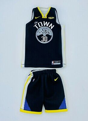 $35 • Buy Custom Made 1/6 Action Figure Stephen Curry Black Jersey Fit Enterbay