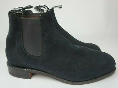 £218.23 • Buy RM Williams Men's Blue Suede Classic Chelsea Boots Size 12 G/ 13 US
