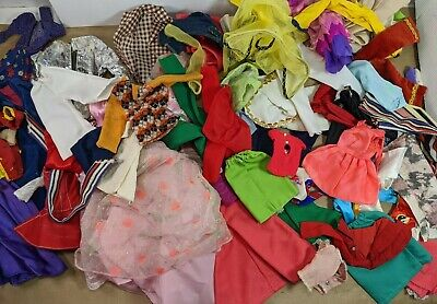 $ CDN47.84 • Buy HUGE Barbie Doll Vintage Clothes Lot Pieces For Repair Or Remake ALL TLC DIY