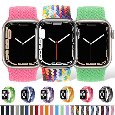 $ CDN9.45 • Buy For Apple Watch Braided Solo Loop Band Strap 40/42/44mm IWatch Series 6 5 4 3 SE