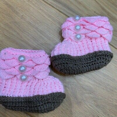 £3 • Buy Baby Booties Knitted - Brand New