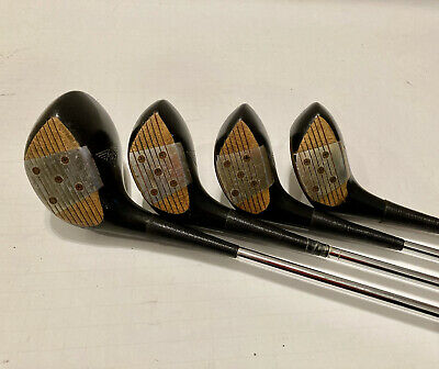 $40 • Buy Matched Set MacGregor Tourney MT2 1,3,4,5 Persimmon Woods Aluminum Face Inserts