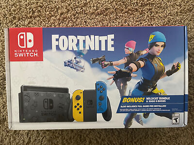 $439.95 • Buy NEW 🔥 Nintendo Switch Console Fortnite Special Edition Wildcat Bundle W/ Code