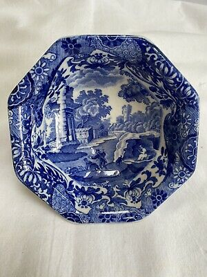 £14.99 • Buy Antique Copeland Spode ITALIAN Small Eight Sided Octagonal Dish, Blue Stamp 1910