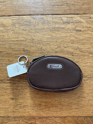 $15 • Buy NWT Fossil Brown Oval Small Zipper Change Purse