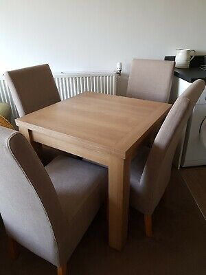 £240 • Buy Next Stanton Oak Dinning Table & 4  House Of Fraser Dining Chairs