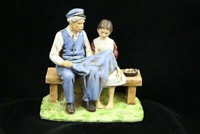 $ CDN12.45 • Buy 1979 Norman Rockwell Lighthouse Keeper's Daughter Sewing/Seamstress Figurine