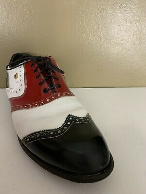 $84.99 • Buy  FootJoy FJ Mens Classics Lites Handcrafted Golf Shoes Red White Blue Size 12D